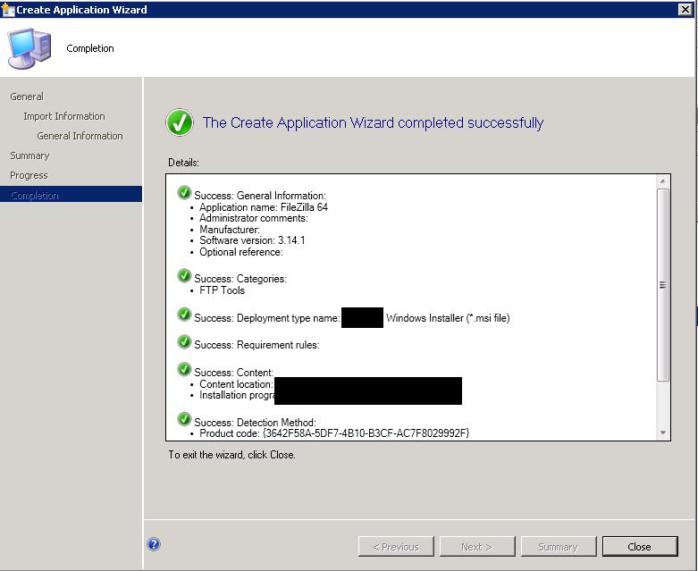 FileZilla Silent Installation Using SCCM - MSI