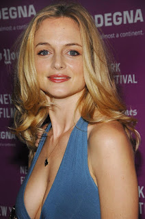 Heather Graham Sexy Pic In Blue Top