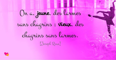 Citation de Joseph Roux sur le chagrin d'amour.