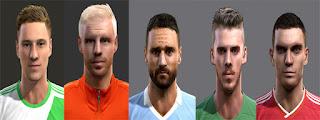 Faces: Julian Draxler, Davy Klaassen, Antonio Candreva, De Gea, Vermaelen, Pes 2013
