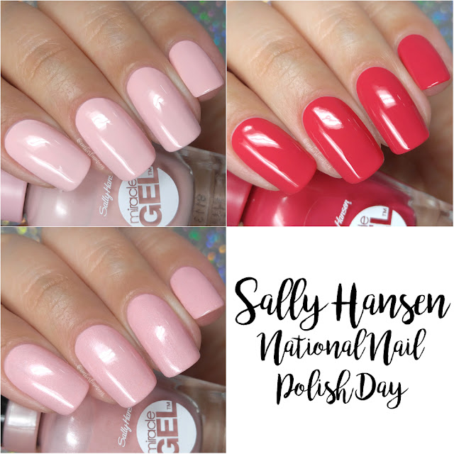Sally Hansen - National Nail Polish Day Pink Trio