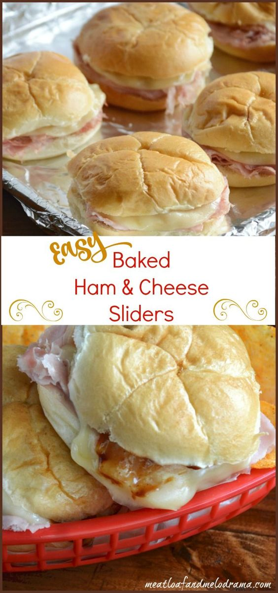 Baked Ham and Cheese Sliders with Barbecue Sauce #ham #bakedham #cheese #barbecuesauce #dinnerrecipes #quickdinnerrecipes