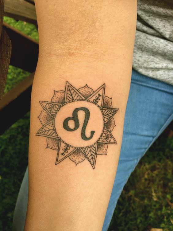 45 best leo tattoos designs ideas for men and women with for Leo sign tattoo