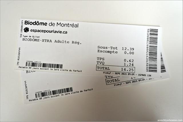 Nuestras Entradas al Biodôme de Montreal