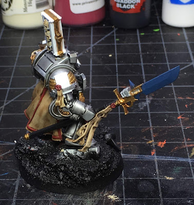 Grey Knight Brother Captain WIP right side more base colors blocked in