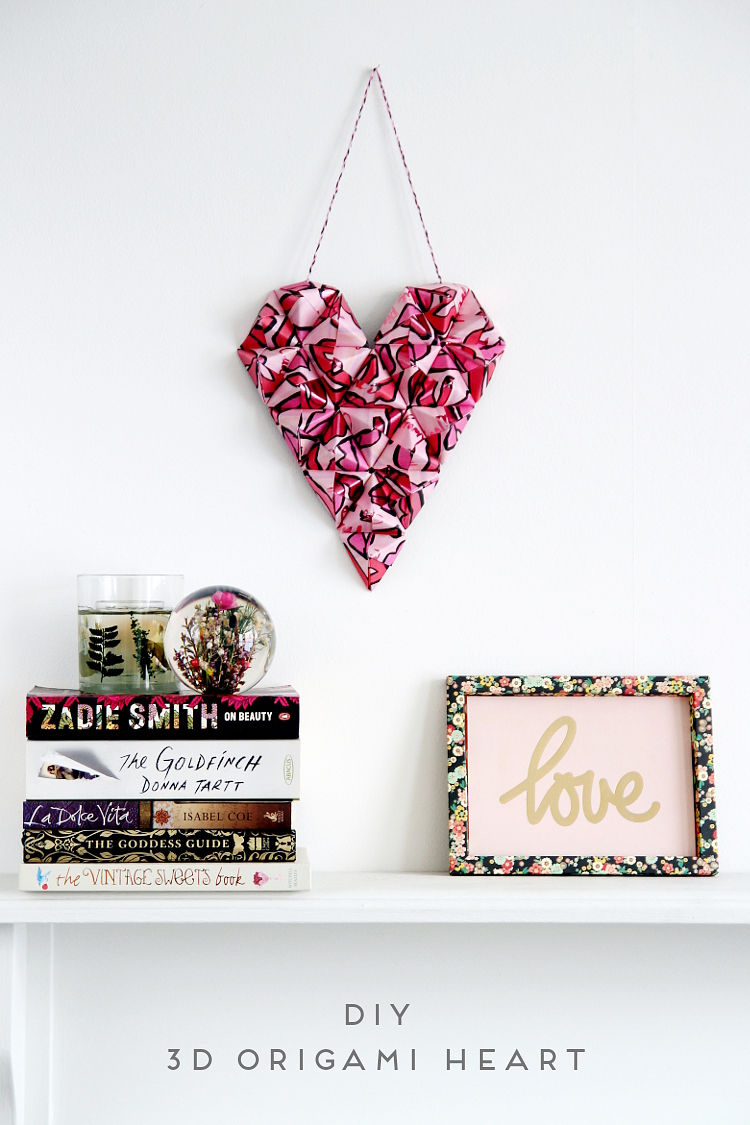 Diy 3d origami heart gathering beauty decorate for valentines day with this diy 3d origami heart wall art jeuxipadfo Gallery