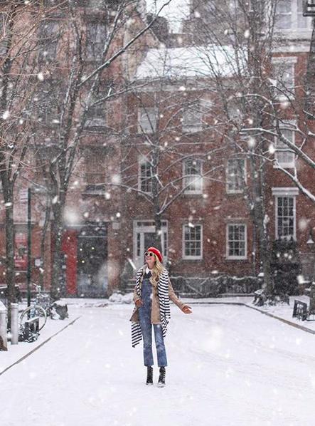 snow nyc street style