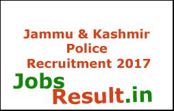 Jammu & Kashmir Police Recruitment 2017