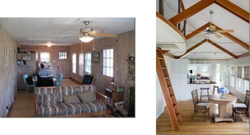 La ristrutturazione di un cottage nel massachusetts for Planimetrie cottage con soppalco