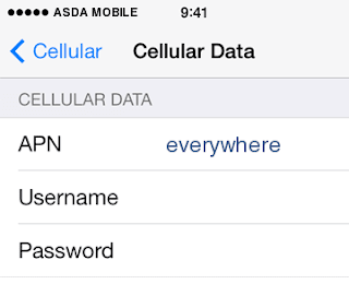 ASDA Mobile Internet APN Settings for iPhone