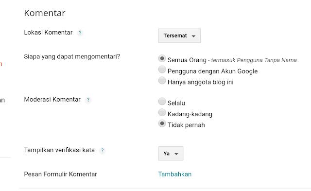 Cara membuat Kotak komentar di bawah Postingan blog