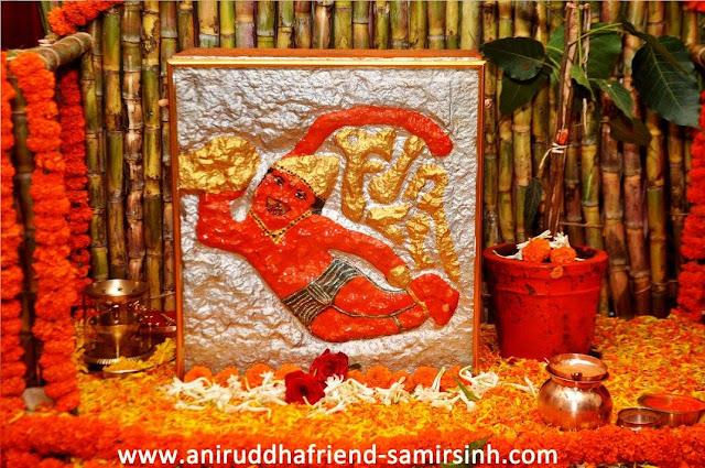 lord hanumnta idol carved by aniruddha