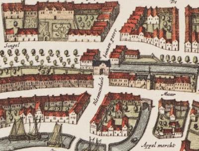 Havik-Bloemendalsepoort, 1649, kaart J. Blaeu