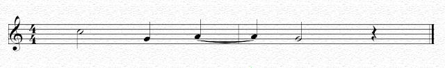 Ligadura de prolongación entre notas de distinto compás