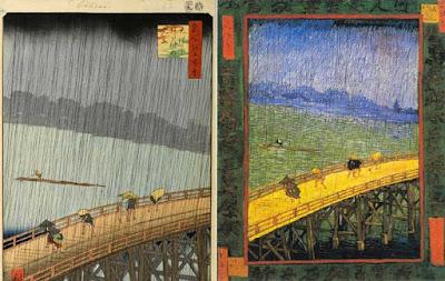 VAN GOGH puente bajo la lluvia