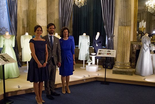 Carl Philip and Princess Sofia at the inauguration of the 'The Lilian Look' exhibition
