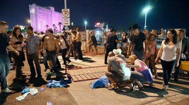 Korban luka akibat penembakan brutal di konser dekat Kasino Mandalay Bay, Las Vegas bertambah drastis menjadi 406 orang