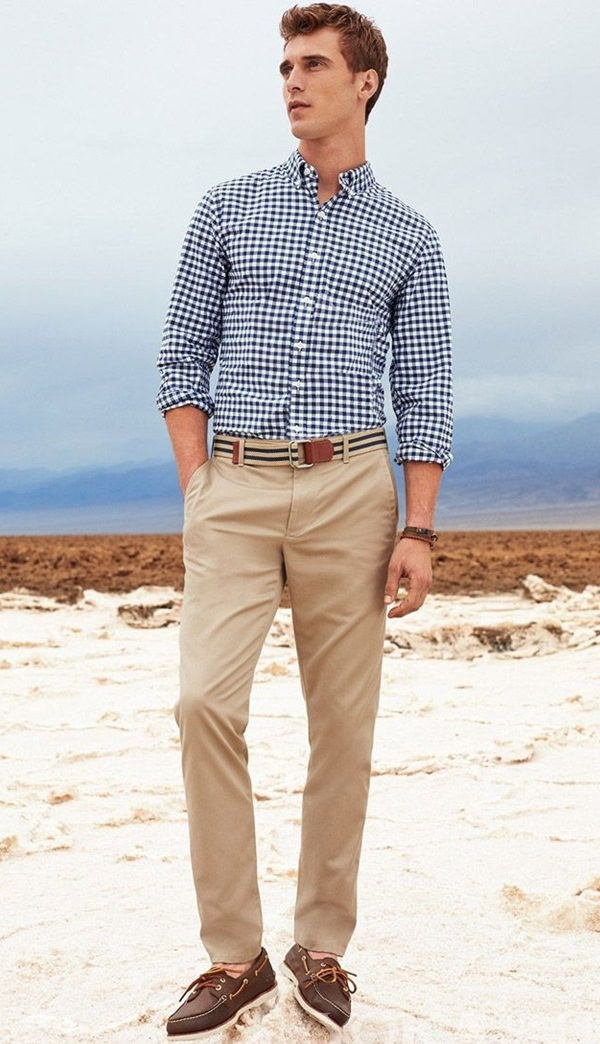 Ghingam Shirt on Khaki Pant, what do you wear with khaki pants