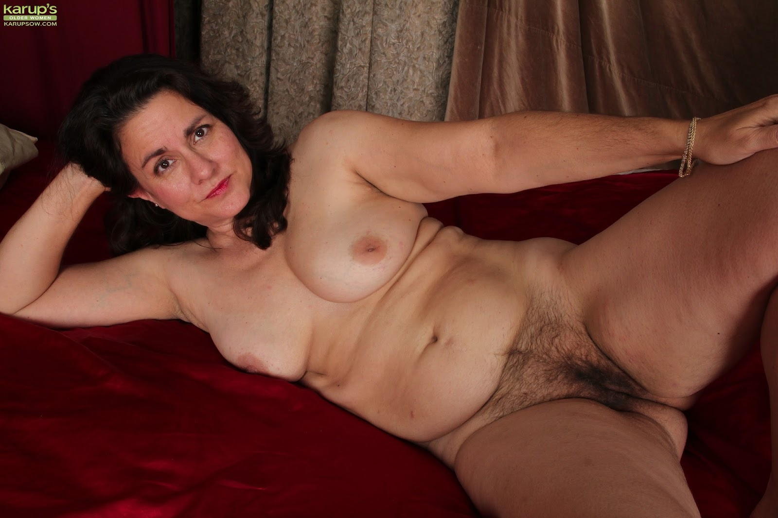 Busty lesbian mistress masturbates in front of slave 3