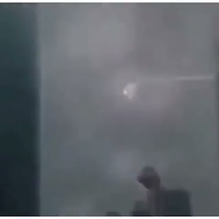 UFO sequence of film showing how it got struck by lightening.