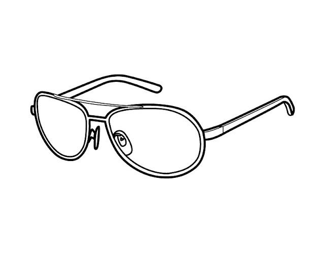 coloriage lunettes