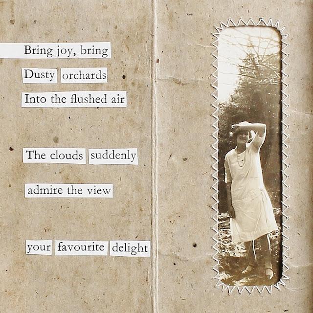Your favourite delight - mixed media collage by Kaija Rantakari / paperiaarre.com