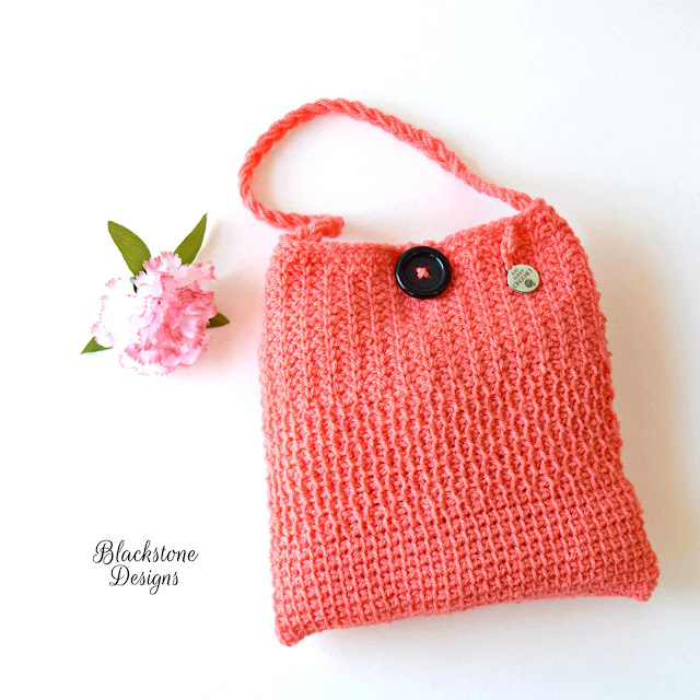 Free Tunisian Crochet Pattern Tunisian Sampler Bag from Blackstone Designs