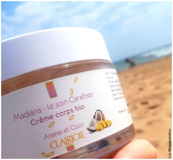Le soin Caraïbes by Clairjoie, la crème corps ananas coco - Avis blog