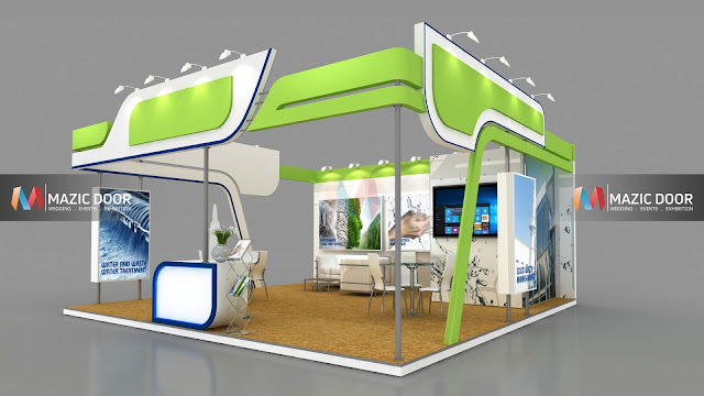 3 side open Exhibition Stall design-2