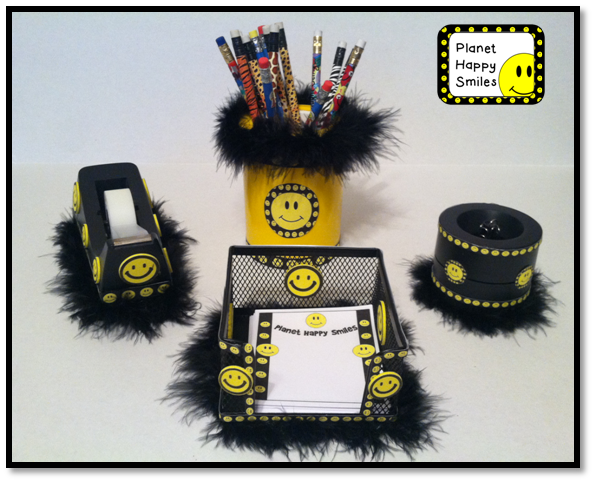 Happy Face, Smiley Face Desk Set, Planet Happy Smiles