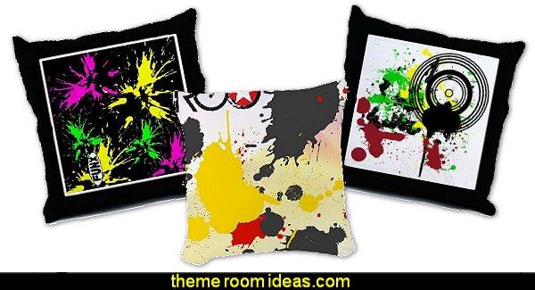 Paint Splatter Throw Pillows - PaintSplat Throw Pillow