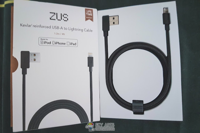 1.2m ZUS Lightning Cable for Apple Product. They also have ZUS Cable for micro USB and USB-C charging