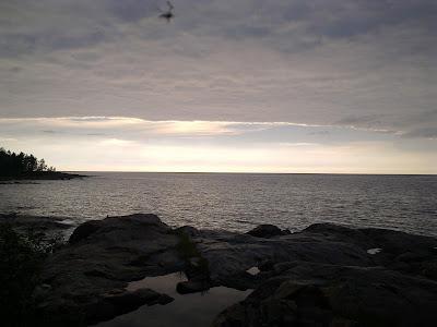meri, kalliot, juhannus, Lohikari