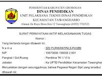 Contoh SPMT [Surat Pernyataan Melaksanakan Tugas]