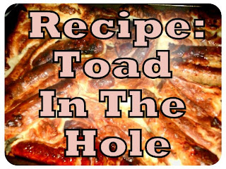 recipe, toad in the hole, comfort food