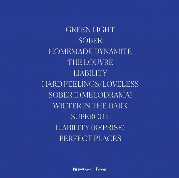 lorde melodrama track list