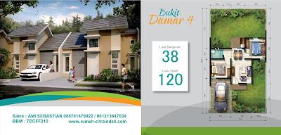 Model dan Denah Rumah DAMAR 4, 38/120 Citra Indah City