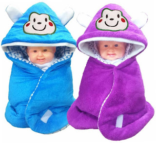 3 In 1 Baby Wrapper or Blanket Cum Sleeping Bag Bedding