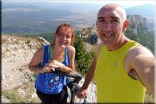 Castillo de Lapoblación mendiaren gailurra 1.244 m. - 2018ko abuztuaren 5ean