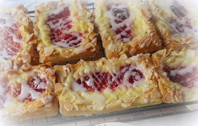 Strawberry Almond Cream Cheese Danish