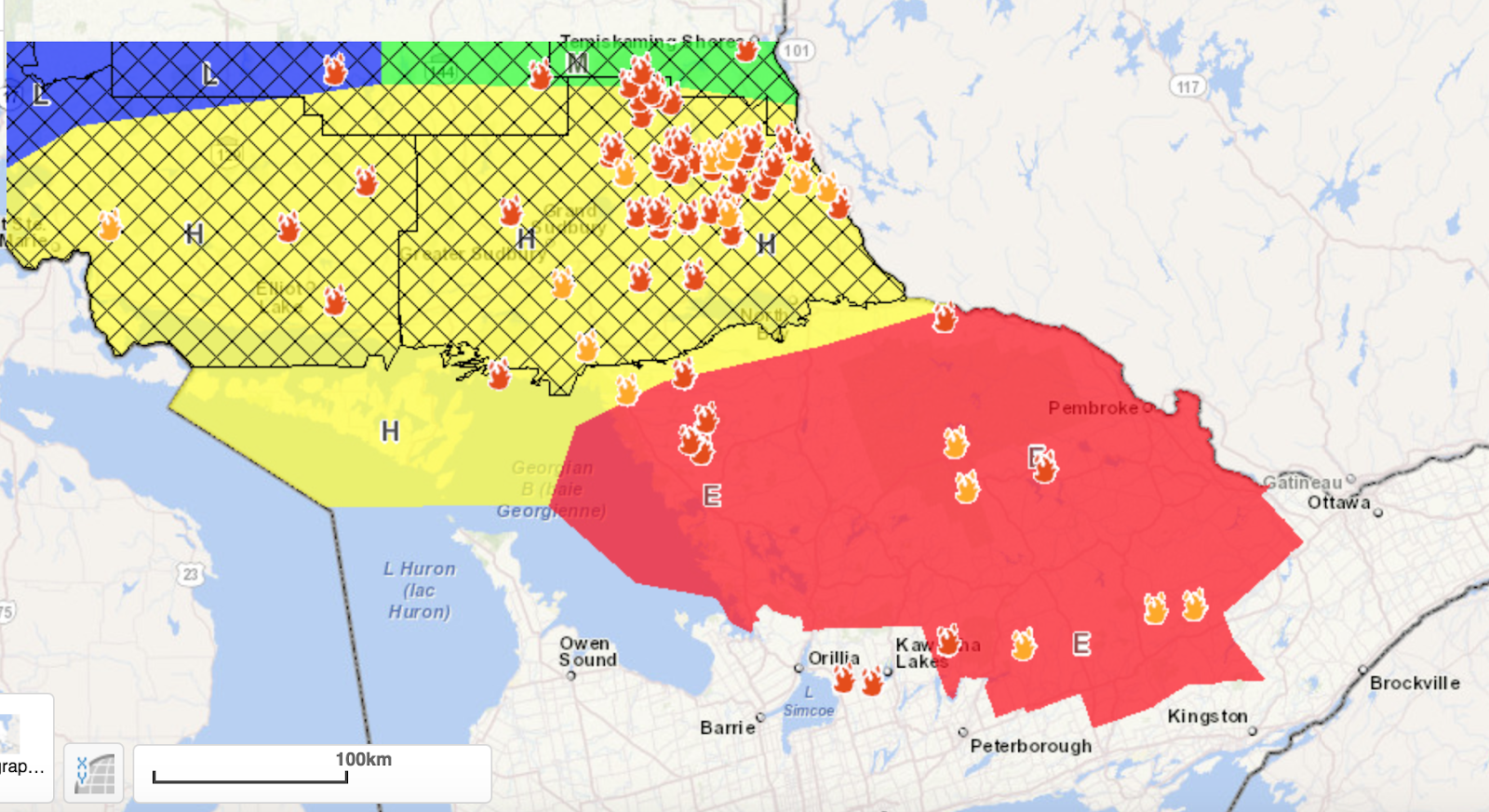 we only have a partial fire ban as we are on the south east edge of the red