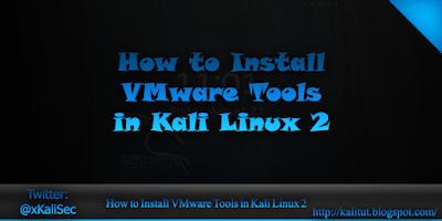 install vmware tools kali