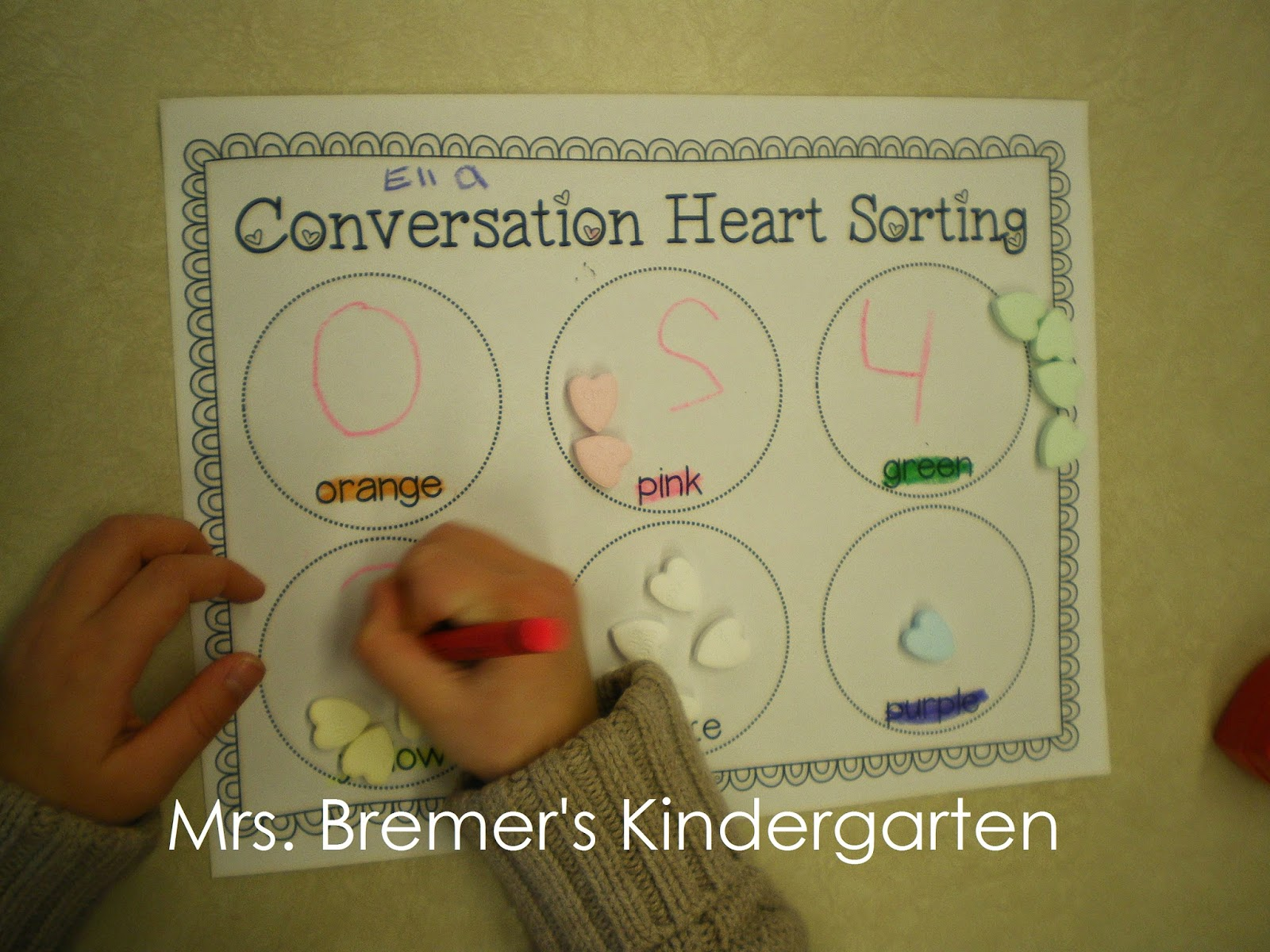 Mrs Bremer S Class I Want Candy Conversation Heart
