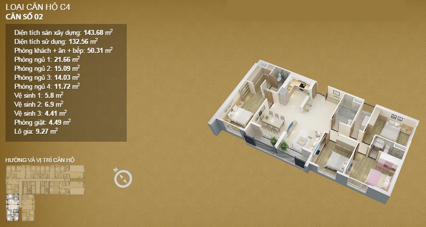 Căn hộ 02 tầng 36