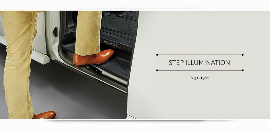 new vellfire step illumination