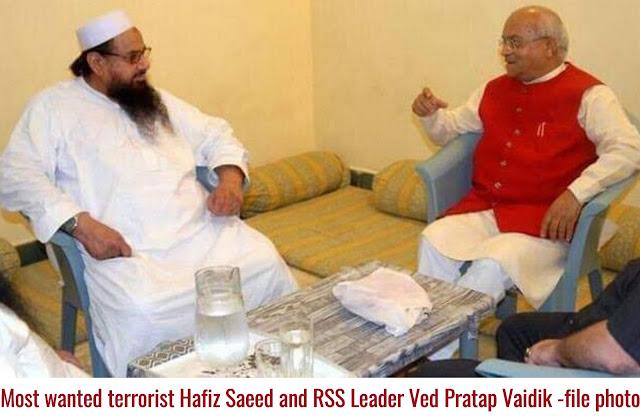 हाफिज सईद और संघी वेद प्रताप वैदिक; क्या है यह ? क्या बीजेपी का हमले से लिंक तो नही?