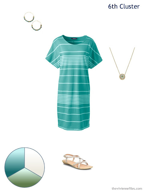 spring dress with accessories