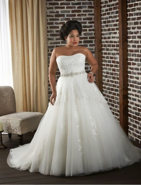 Rainingblossoms 2014 New Plus Size Wedding Gowns In