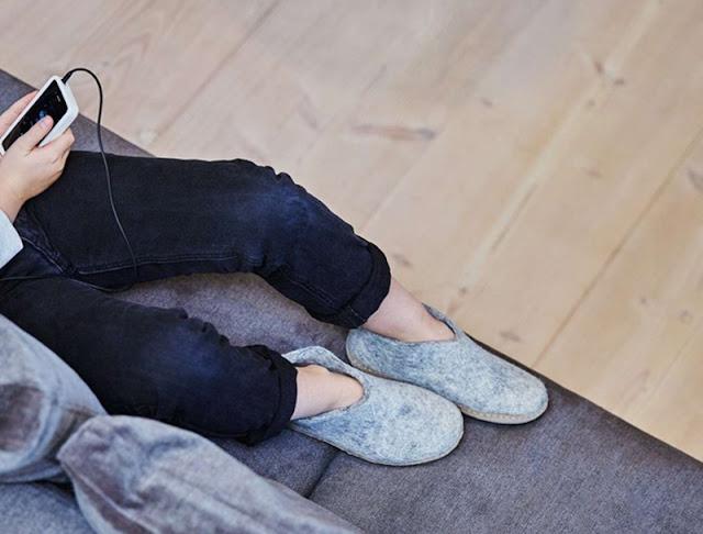 Sapatos nas casas da Alemanha