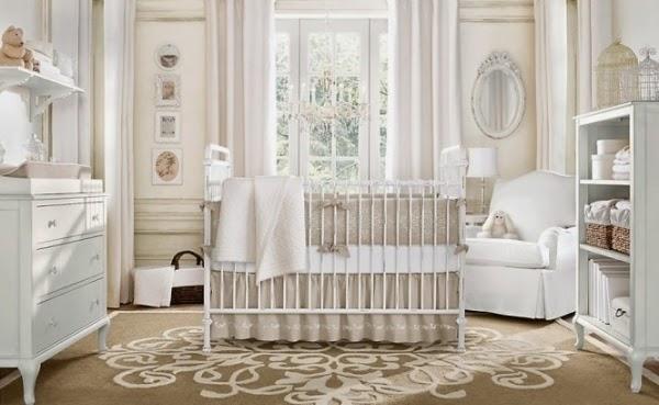 Cuarto bebé marrón beige